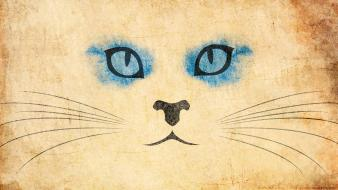 Animals artwork blue eyes cat cats wallpaper