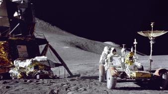 Apollo 15 lunar lander nasa astronauts outer space wallpaper