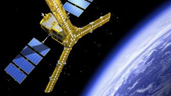 Artwork outer space satellite probes wallpaper
