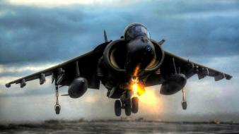 Av-8b harrier aircraft landing vertical Wallpaper