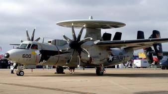 Awacs e-2c hawkeye us navy aircraft airforce wallpaper
