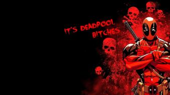 Black background deadpool comic character wallpaper