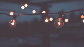 Bokeh depth of field lamps light bulbs wallpaper