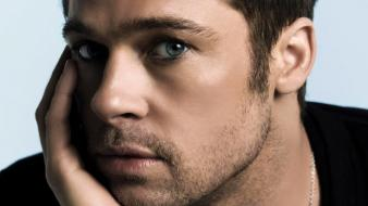 Brad pitt actors eyes men Wallpaper