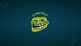 Bro mad trollface trolls wallpaper