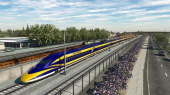 Bullet train railroads wallpaper