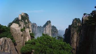 China huang shan mountains wallpaper