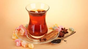 Cinnamon tea turkish delight Wallpaper