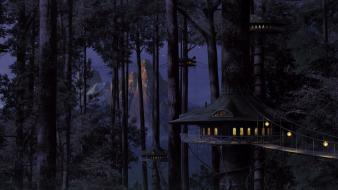 Cities fantasy art forests game hut wallpaper