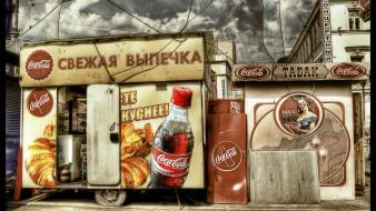 Cocacola russians clouds vintage wallpaper