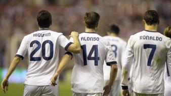 Cristiano ronaldo higuain real madrid xabi alonso wallpaper