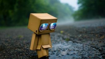 Danboard funny glasses paper Wallpaper