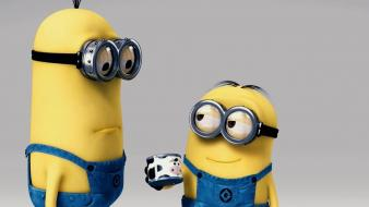 Despicable me glasses minions movies yellow wallpaper