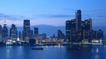 Detroit cityscapes nature wallpaper