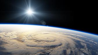 Earth hurricane outer space seasons Wallpaper