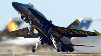 Fa-18 hornet aircraft angle attack blue angels wallpaper
