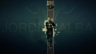 Fc barcelona jordi alba blaugrana football players soccer wallpaper