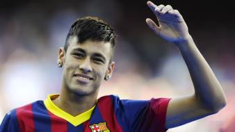 Fc barcelona neymar jr blaugrana football players soccer Wallpaper