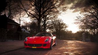 Ferrari 599 red street wallpaper