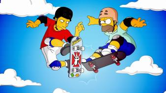 Homer simpson the simpsons tony hawk skateboards wallpaper
