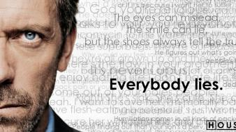 House md hugh laurie everybody lies quotes wallpaper