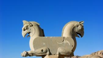 Iran architecture blue skies history persepolis wallpaper