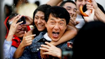 Jackie chan actors laughing wallpaper
