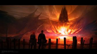 Kuldar leement adventure awakening digital art flames wallpaper