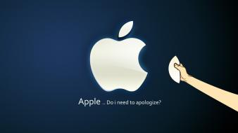 Mac blue funny operating systems wallpaper