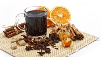 Mulled wine beverages cinnamon food nature wallpaper