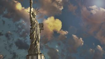 New york city statue of liberty statues wallpaper