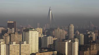 North korea pyongyang architecture buildings cityscapes wallpaper