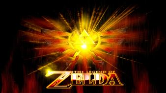 Of zelda digital art logos video games wallpaper