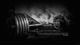 Polish black and white fitness gym lc0ne wallpaper