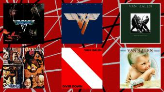 Rock band van halen albums cover art digital wallpaper
