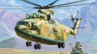 Russian air force soviet aircraft helicopters wallpaper