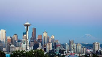 Seattle space needle usa washington cityscapes wallpaper