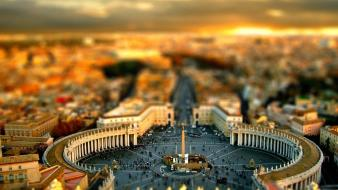 St. peter square tilt-shift upscaled vatican city Wallpaper