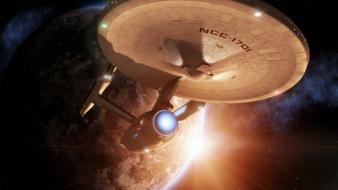 Star trek voyager spaceships wallpaper