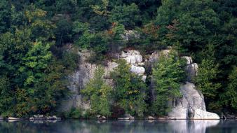 Usa cliffs forests lakes landscapes wallpaper