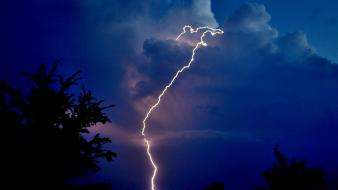 Zeus clouds landscapes lightning nature wallpaper