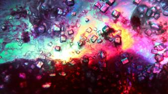Abstract backgrounds colors crystal crystalline wallpaper