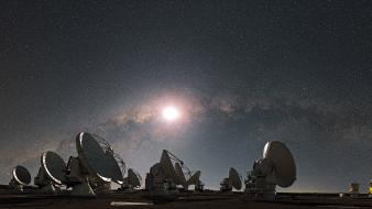 Antenna glow outer space panorama skyscapes Wallpaper
