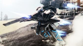 Armored core jet aircraft mecha robots wallpaper