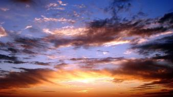 Clouds nature skies sunset wallpaper