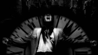 Dark city clocks grayscale movies Wallpaper