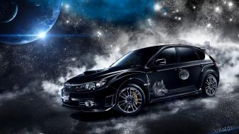 Domestic market subaru cars outer space wolves wallpaper