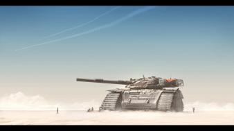 Dune deserts fantasy art science fiction tanks wallpaper
