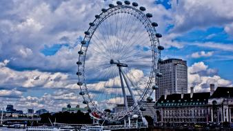 England london eye united kingdom blue skies Wallpaper