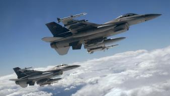 F-16 fighting falcon aircraft fighter jet Wallpaper
